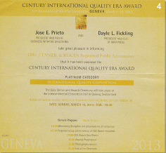 Century International Quality Era Award 2011 on Geneva