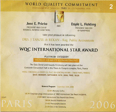 WQC International Star Award 2006 on Paris