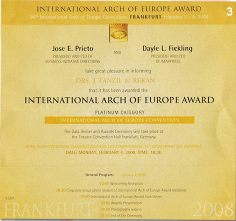 International Arch of Europe Award 2008 on Frankfurt