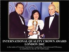 International Quality Crown Award London 2002