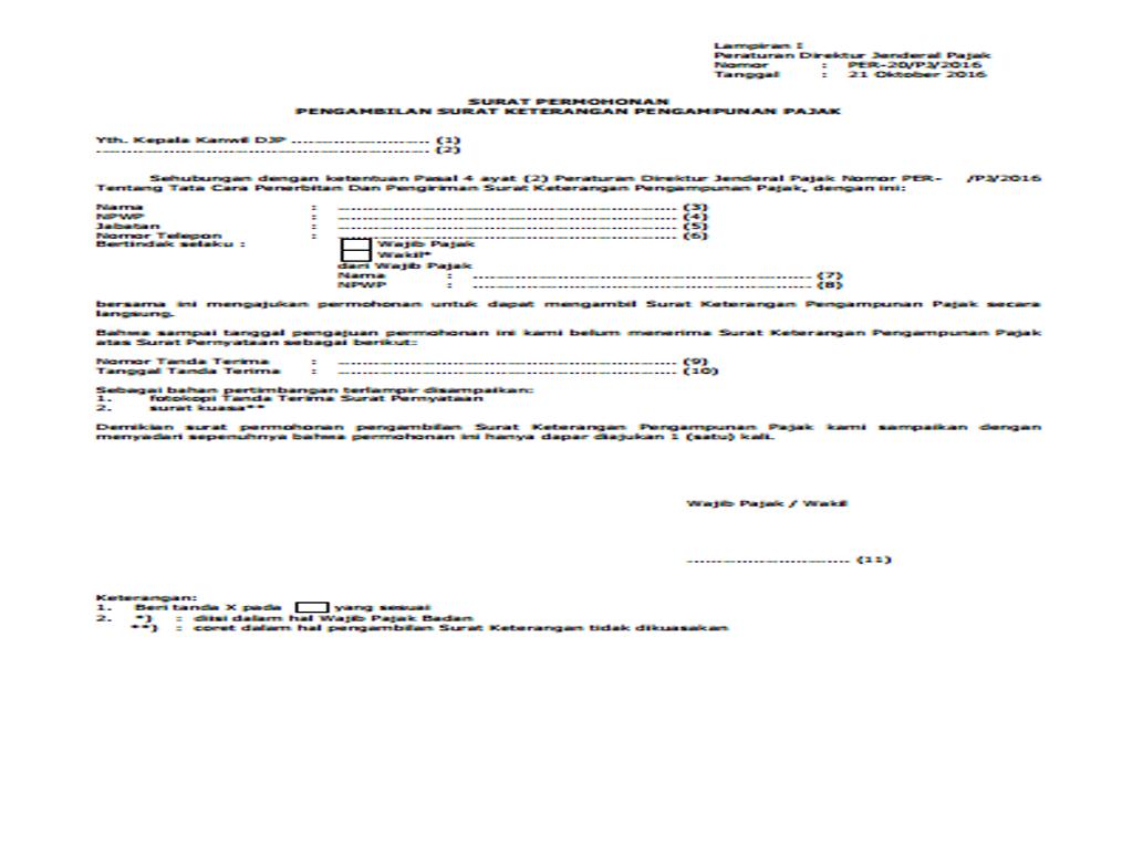 Surat keterangan pengampunan pajak tak kunjung datang drs j berikut kami lampirkan contoh surat pengajuan pengambilan surat keterangan pengampunan pajak thecheapjerseys Gallery