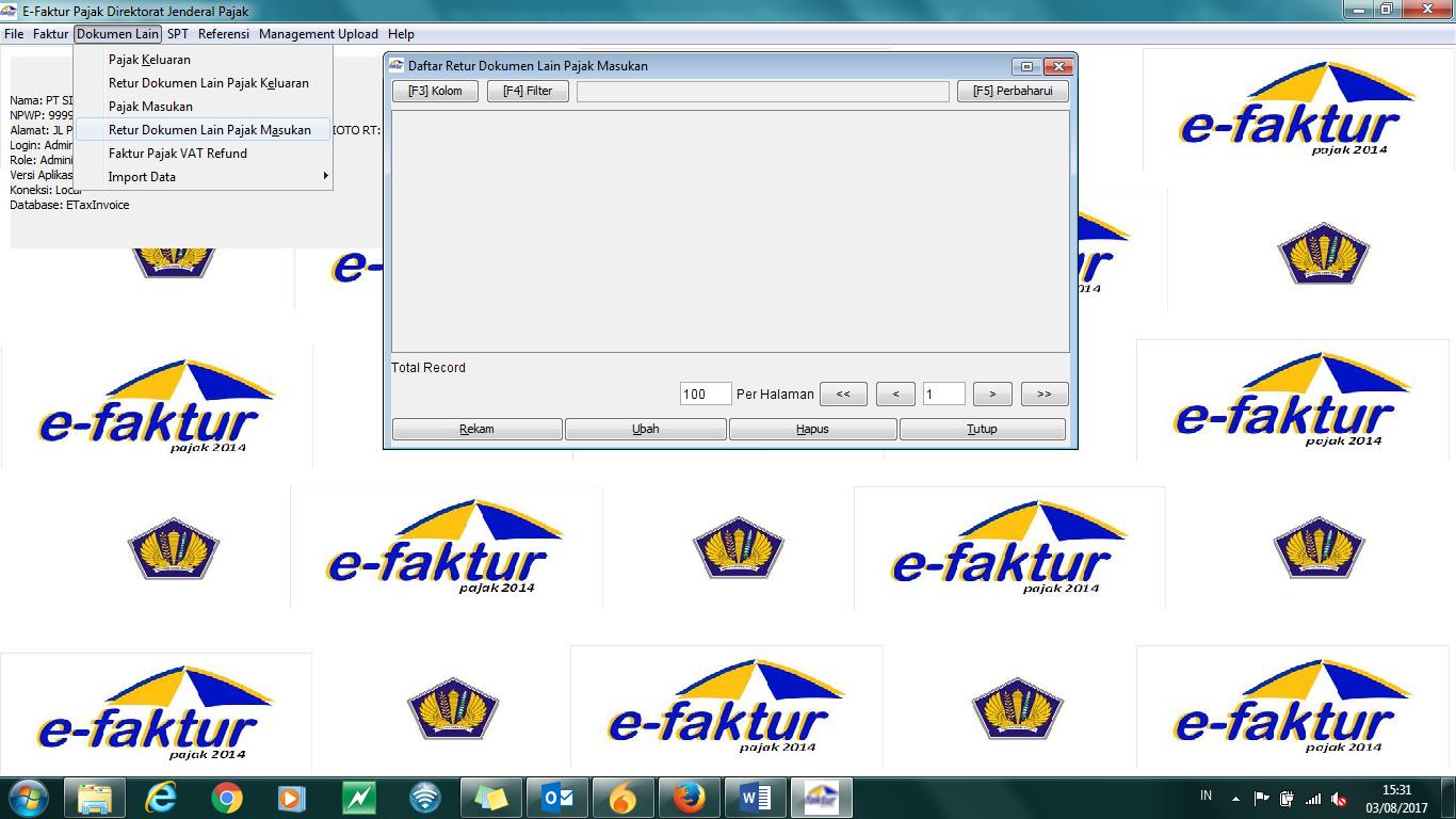 Mengaplikasikan Retur Dalam Aplikasi E Faktur Drs J